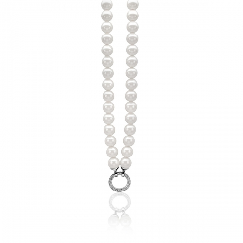 Zinzi white pearl necklace 45cm ZIC400