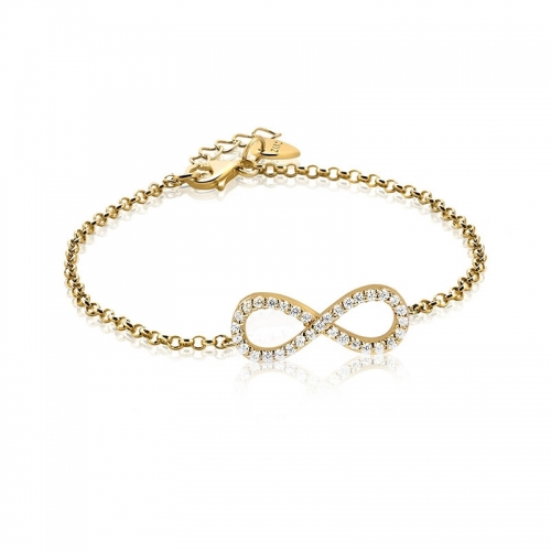 Zinzi Yellow Gold Plated Infinity Bracelet ZIA1065G