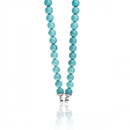 Zinzi Turquoise Pearl Beaded 45cm Necklace ZIC401T