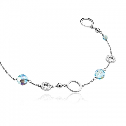 Zinzi Sterling Silver 70cm Necklace with Swarovski Beads ZIC679