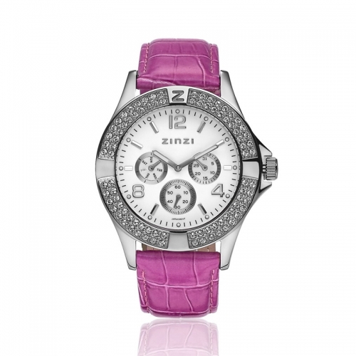 Zinzi Ladies' Pink Chronograph Watch UNO09