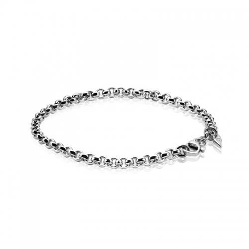 Zinzi Silver Jasseron Bracelet Zia1009