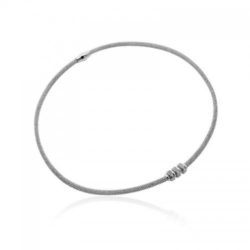 Zinzi dark rhodium silver necklace 45cm ZIC839Z