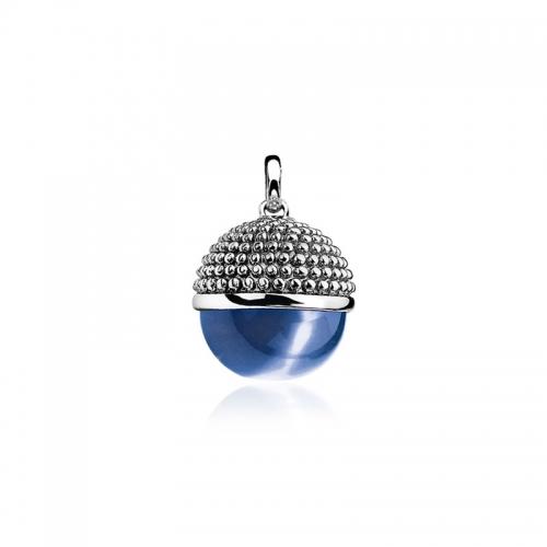 ZINZI SILVER AND BLUE BALL PENDANT ZIH792B