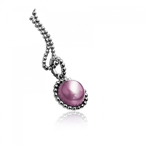 ZINZI SILVER AND Purple CAT'S EYE PENDANT ZIH793P