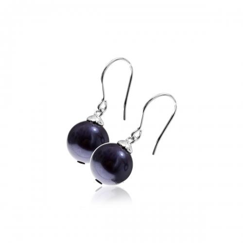 Zinzi Purple Pearl Silver Earrings ZIO266P