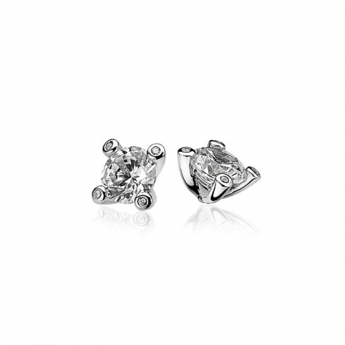 Zinzi Silver Stud Earrings With A White Zirconias ZIO775