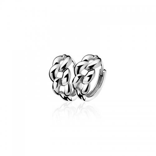 Zinzi Silver Gourmet Link Pattern Earrings With ZIO789