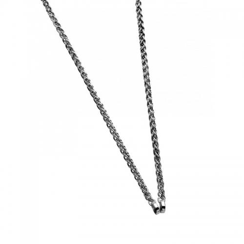 Zinzi Silver Open Palmier 60Cm Necklace