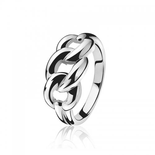 Zinzi Silver Gourmet Link Ring ZIR789