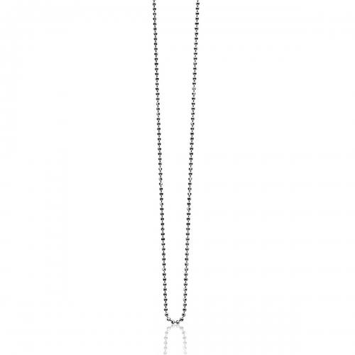 Zinzi Small Silver Ball Necklace Chain ZI70BOLXS
