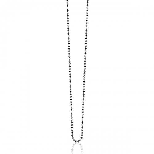 Zinzi Small Silver Ball Necklace Chain ZI90BOLXS