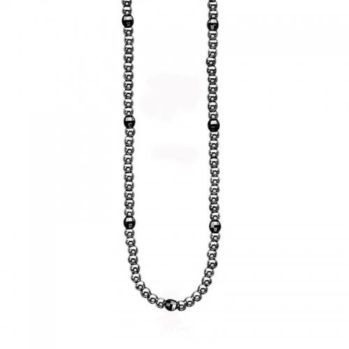 Zinzi Silver & Grey Beaded Necklace ZIC738-70