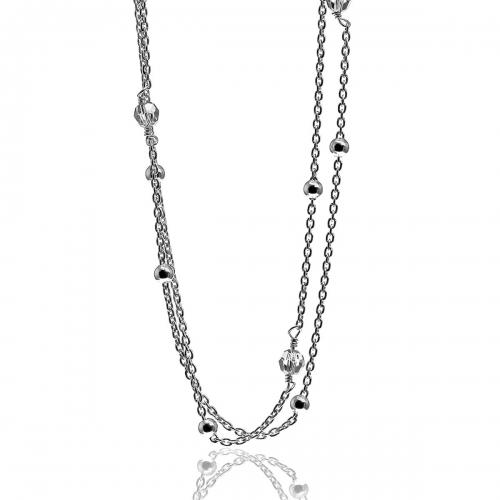 Zinzi Silver & Swarovski Necklace ZIC910-90