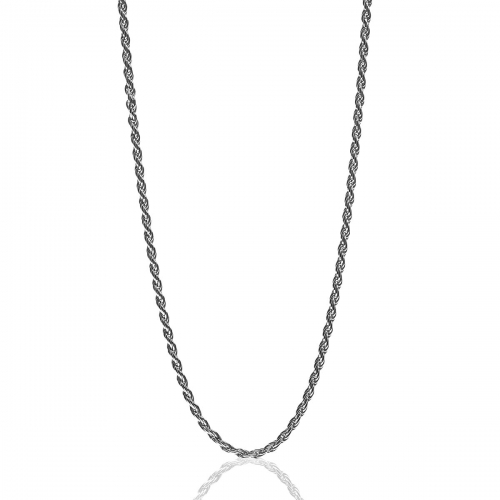 Zinzi Silver Twisted Necklace Chain ZIC811-90