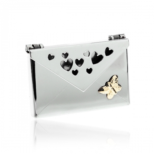 Love Letters Butterfly Steel Envelope Locket LL-EV-002