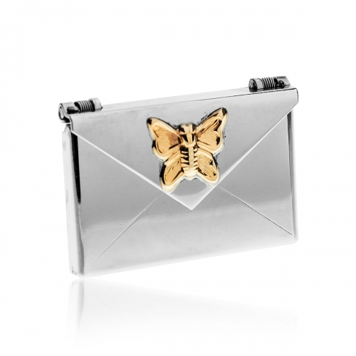 Love Letters Butterfly Steel Envelope Locket LL-EV-004