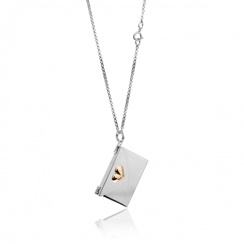 Love Letters Gold Heart Envelope Locket Necklace Set LL-NLS-01-0012