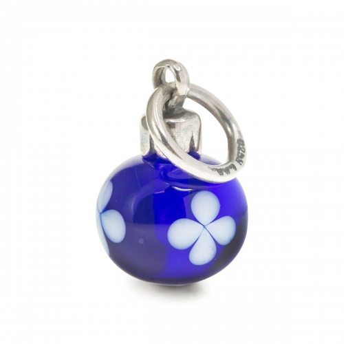 Trollbeads Limited Edition Blue and White Christmas Ornament Bead TAGBE-00020
