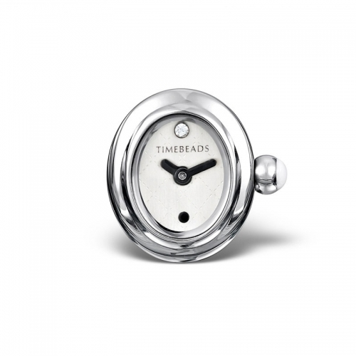 Ex Display: Timebeads White Oval Face with Clip Fastening TB1011WH