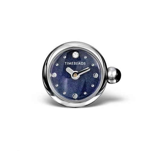 Ex Display: Timebeads Deep Blue Round Face with Clip Fastening TB2013BK