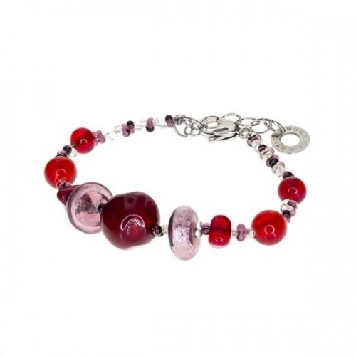 Antica Murrina Purple & Red Columbia Bracelet
