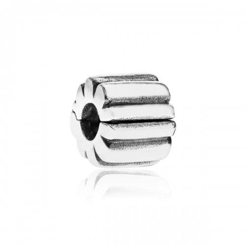 OUTLET: Pandora Ribbed Silver Clip 790163