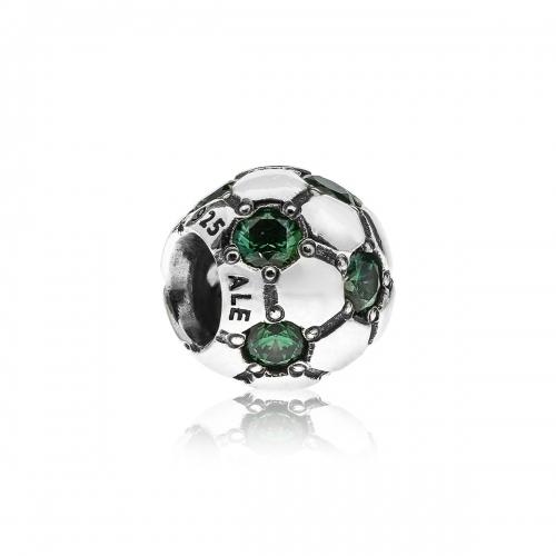OUTLET: Pandora Football Silver & Green CZ Charm 790444CZN