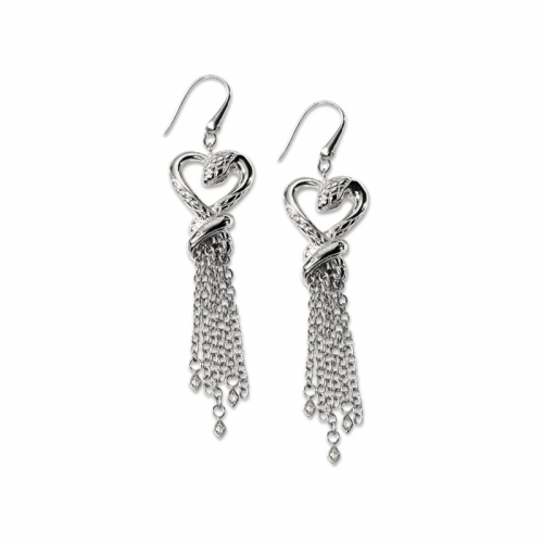 Just Cavalli Stainless Steel Pull Through Earrings