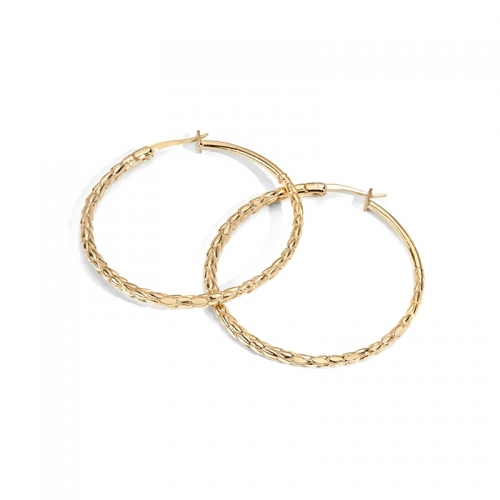Just Cavalli Groumette Gold Hooped Earrings