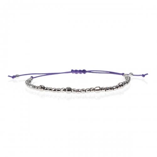 Be Christensen Purple Carnie String & 18k White Gold Bracelet