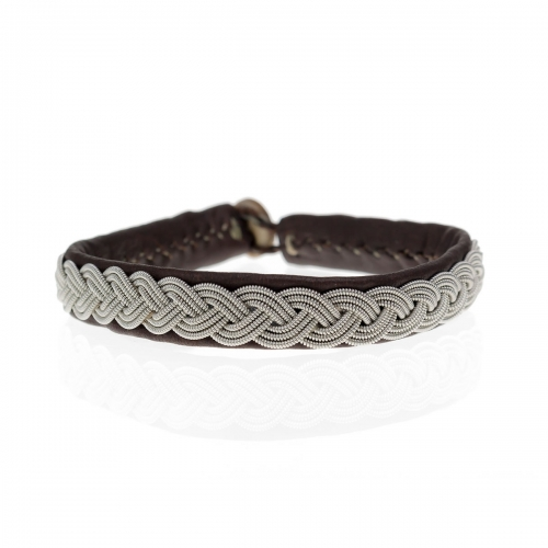 Be Christensen Arctic Brown Leather Bracelet