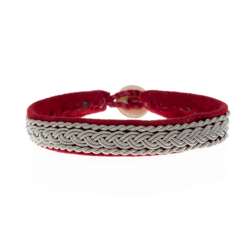 Be Christensen Classic 2 Red Suede Bracelet