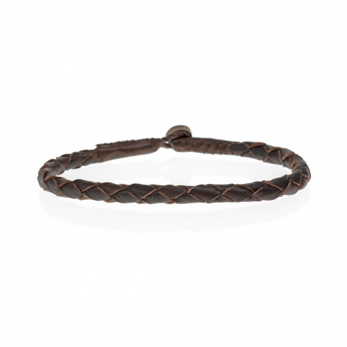 Be Christensen Abba Brown Leather Bracelet