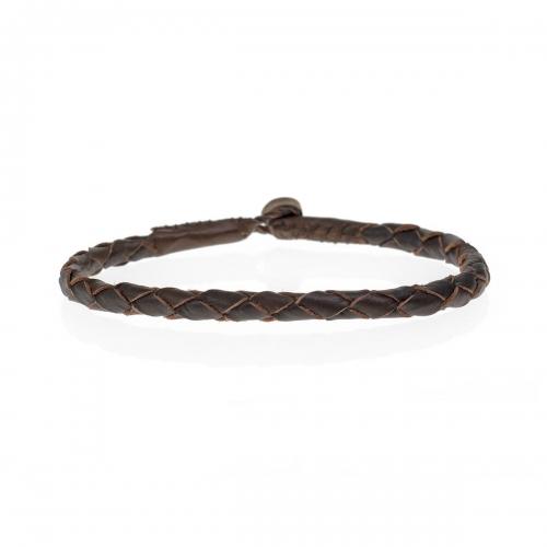 Be Christensen Abba Brown Leather Bracelet