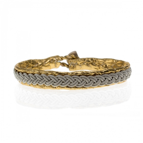 Be Christensen Classic Antik Gold Leather Bracelet