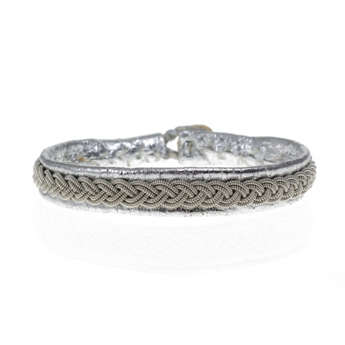 Be Christensen Classic Antik Silver Leather Bracelet