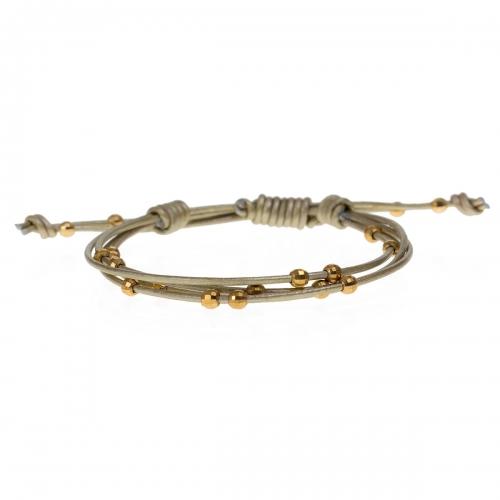 Be Christensen Lana Leather & 18k Gold Bracelet
