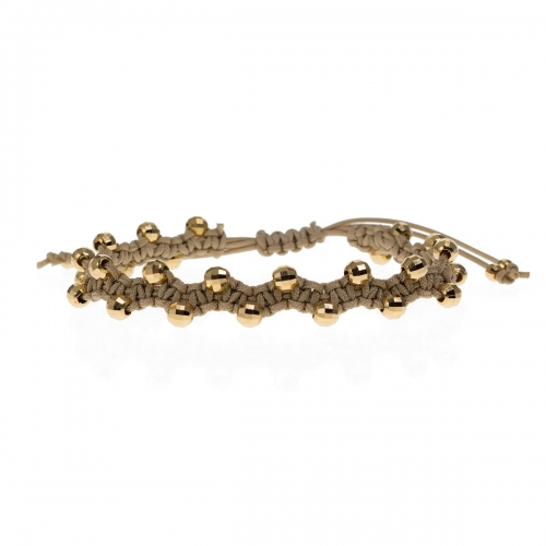 Be Christensen Jackie Gold Leather & 18k Gold Bracelet