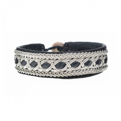 Be Christensen Tanga Black Leather Bracelet