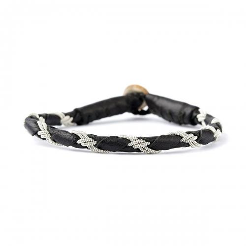 Be Christensen Tundra Black Leather Bracelet