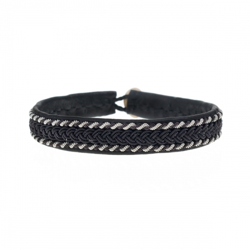 Be Christensen Frida Black Leather Bracelet