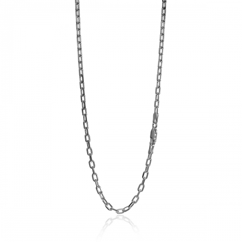 Millefiori Silver Belcher Link Necklace 2CH021