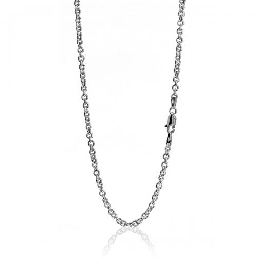 Millefiori Silver Rolo Link Necklace 5MH82N