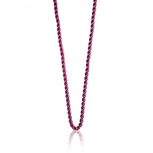 Millefiori Pink Twisted Cord Necklace 7NW044-PNK