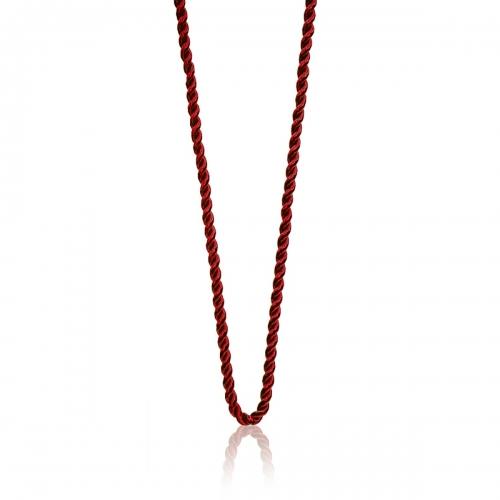 Millefiori Red Twisted Cord Necklace 7NW044-RED