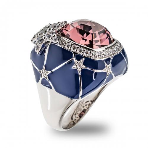 Belle Etoile Blue Starry Night Ring
