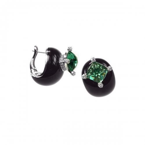 Belle Etoile Black Corona Earrings