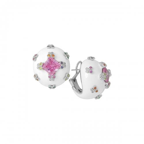 Belle Etoile White Farfalla Allegra Earrings