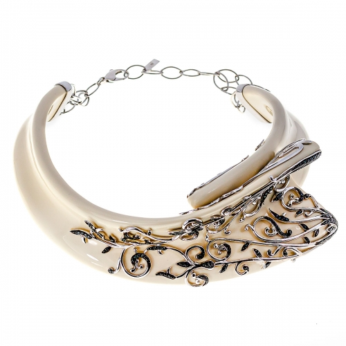 Belle Etoile White Anastacia Necklace